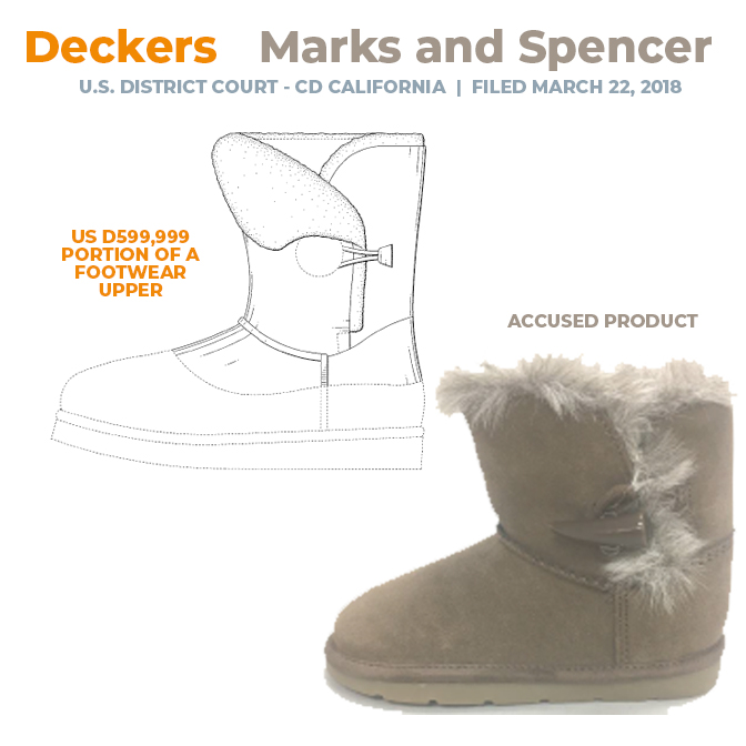 Deckers vs Marks and Spencer - US DCt - CD California - 22 March 2018