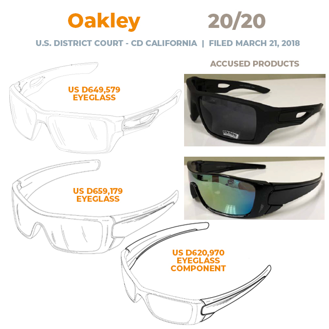 Oakley vs 2020 - Complaint - CD California - 21 March 2018